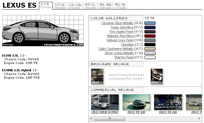 Lexus Es Paint Codes Amp Media Archive Clublexus Lexus