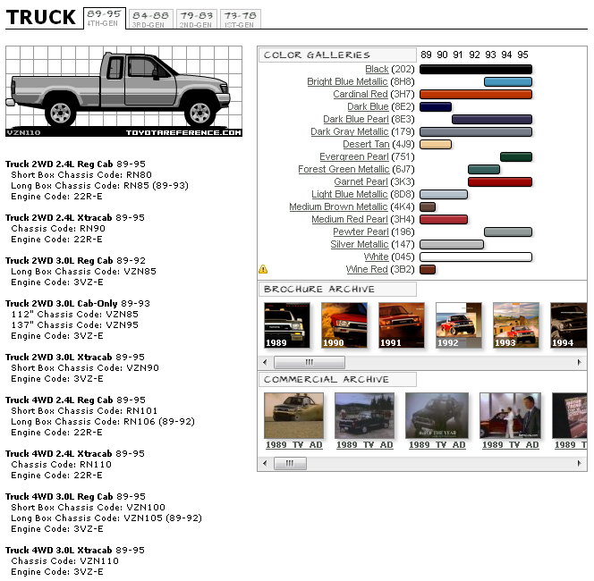 White Diamond Truck Color Code: 4Runner/Hilux Paint Color Thread.